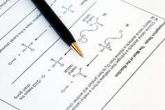 Química orgánica Imágenes de archivo libres de regalías