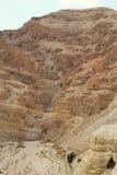 Qumran洞在Qumran国立公园,死海纸卷找到,Judean沙漠远足,以色列 库存照片