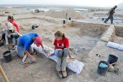Qumran洞-以色列 免版税库存图片