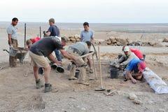 Qumran洞-以色列 库存照片