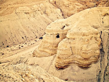 Qumran洞 免版税库存图片