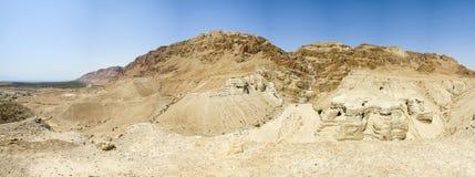 Qumran洞 图库摄影