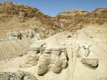 Qumran洞 库存照片