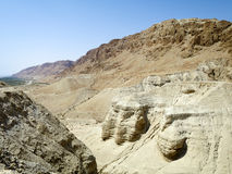 Qumran洞 免版税图库摄影