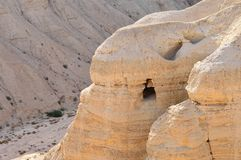 Qumran cave (Dead Sea scrolls) Royalty Free Stock Photography