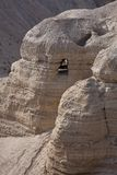 Qumran Caves. Qumran is located on a dry plateau about a mile inland from the shore of the Dead Sea. It is the place were the Dead Sea Scrolls were found Stock Images