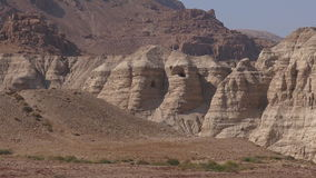Qumran caves  Dead Sea  Israel stock video footage