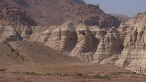 Qumran caves  Dead Sea  Israel stock video footage