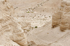 Qumran caves in Israel Royalty Free Stock Image