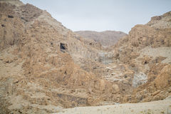 Qumran Caves in Judaean Desert, Israel. Qumran Caves, archaeological site of Qumran National Park in Judaean Desert in Israel Stock Photos