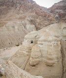 Qumran Caves in Judaean Desert, Israel. Qumran Caves, archaeological site of Qumran National Park in Judaean Desert in Israel Royalty Free Stock Photo