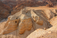 Qumran caves - Judean desert Royalty Free Stock Photo