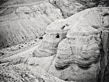 Qumran caves. In Qumran National Park, Israel Royalty Free Stock Photography
