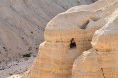 Qumran grotta (snirklar för det döda havet) Royaltyfri Fotografi