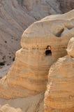 Qumran grotta (snirklar för det döda havet) Fotografering för Bildbyråer