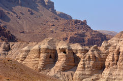 Qumran höhlt Totes Meer Israel aus Lizenzfreie Stockfotografie
