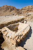 Qumran in Israel. Bath tub found in Qumran close to the dead sea in Israel Stock Images