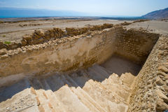 Qumran in Israel. One of the water reservoirs in Qumran in Israel Royalty Free Stock Image