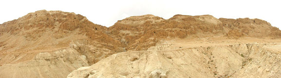Qumran Park. Mountains with caves containing ancient scrolls Stock Photography
