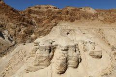 Qumran - parque nacional israelí Imagenes de archivo