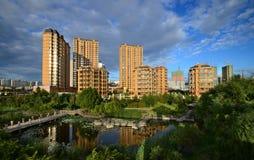 Qunli Yuyang Park royaltyfria foton
