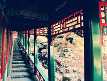 Quo zi jian长的走廊 免版税图库摄影