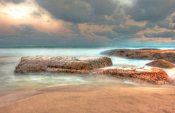 Quobba station coast, red bluff Stock Images