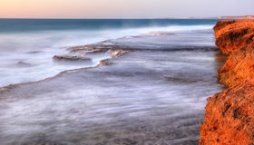 Quobba station coastline looking north. red bluff Royalty Free Stock Photography