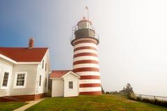 quoddy latarnia morska zachód Obrazy Stock
