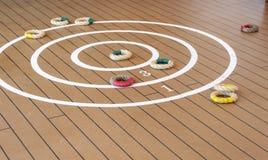 Quoits tradicionais na plataforma do navio. Fotos de Stock