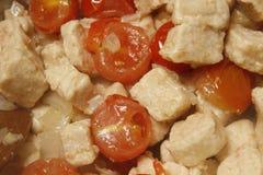 Quorn e tomates Fotos de Stock Royalty Free