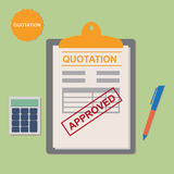Quotation Approved Stock Photo