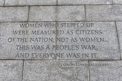 Quotation in Franklin Delano Roosevelt Memorial Royalty Free Stock Photos