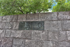 Quotation in Franklin Delano Roosevelt Memorial Stock Photos