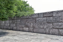 Quotation in Franklin Delano Roosevelt Memorial Royalty Free Stock Images