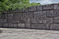 Quotation in Franklin Delano Roosevelt Memorial Stock Image