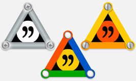 Quotation mark Stock Photo