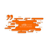 Quotation Mark Speech Bubble. Quote sign icon. Outline, line art Stock Image