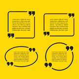 Quotation Mark Speech Bubbles. Set of quote sign icons. Stock Photo