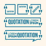 Quotation Speech banner. Quote vector set icon Royalty Free Stock Photo