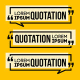 Quotation Speech banner. Quote vector set icon Royalty Free Stock Images