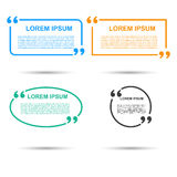 Quotation Speech banner. Quote vector set icon. Stock Images