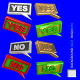 Quotation YES NO for web? poligraphics design Stock Photos