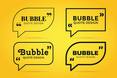 Quote blank template bubble empty design Royalty Free Stock Images