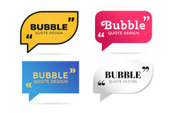 Quote blank template bubble empty design Stock Photos