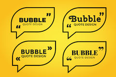 Quote blank template bubble empty design Royalty Free Stock Photos