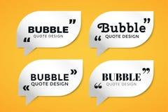 Quote blank template bubble empty design Stock Photo