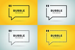 Quote blank template bubble empty design Royalty Free Stock Photography