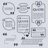 Quote blank template. Design elements, circle business card Stock Photos