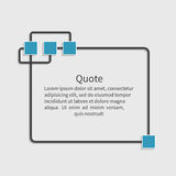 Quote blank template. Dialog box. Design element for message, information, comment, note, text, motivation,  etc. Empty template.  Vector illustration Stock Image
